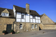 Old houses in pretty village. Old houses in Lacock village in Wiltshire Royalty Free Stock Images