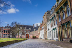Old houses and the Prinsenhof at the Martinihof in Groningen. Netherlands Royalty Free Stock Images