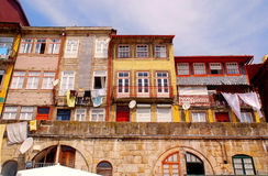 Old houses of Ribeira, Porto, Portugal Royalty Free Stock Photography
