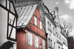 Old houses on Riga street. Latvia Royalty Free Stock Images