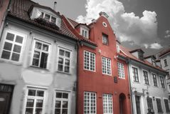 Old houses on Riga street. Latvia Stock Photos