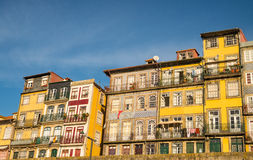 Old houses on riverbank of Duoro in Porto Royalty Free Stock Photos