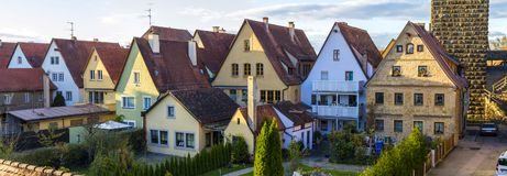 Old houses in Rothenburg ob der Tauber, picturesque medieval cit Stock Photos