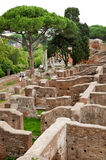 Old houses ruins at Ostia Antica - Rome - Italy Royalty Free Stock Images