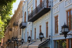 Old houses on Rustaveli avenue. Tbilisi. Georgia. Royalty Free Stock Image
