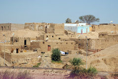 Old houses in Sahara desert Royalty Free Stock Photos