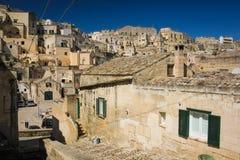 Old town. Matera. Basilicata. Apulia or Puglia. Italy. Old houses in the sassi. Matera. Basilicata. Apulia or Puglia . Italy stock image