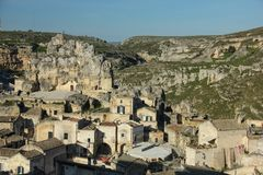 Old town. Matera. Basilicata. Apulia or Puglia. Italy stock photography