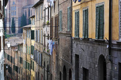 Old houses in siena,italy Royalty Free Stock Images