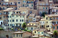 Old Houses of Siena, Italy Royalty Free Stock Images