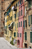 Old houses of sienna Stock Image