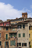 Old houses of sienna Royalty Free Stock Photos