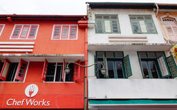 Old houses in Singapore Stock Images