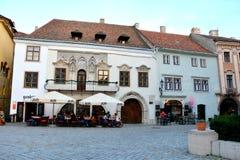 Old houses in  Sopron (Ödenburg), Hungary Stock Photography