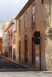 Old houses in Spanish town La Laguna Royalty Free Stock Photo