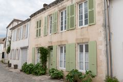 Old Houses in st martin ile de re france. An Old Houses in st martin ile de re france stock photo