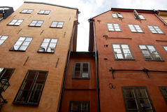 Old houses in Stockholm. The old houses and the sky Royalty Free Stock Photography