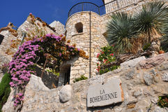 Old houses of stone in eze, cote d'azur. Houses of stone in eze, cote d'azur royalty free stock images