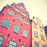 Old houses on Stortorget square Stock Photography