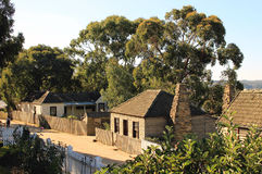 Old houses at the street in Sovereign Hill, Ballarat, Victoria, Stock Photos
