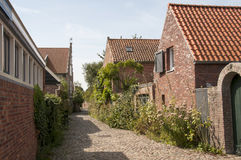 Old houses and street in Veere Stock Photos