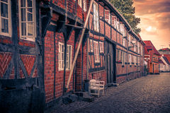 Old houses at a street Royalty Free Stock Image
