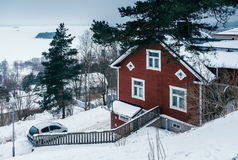 Old houses in Tampere district Pispalan. Finland Stock Photos