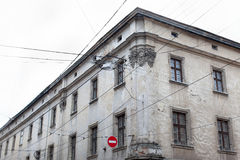 Old houses and towers of the historic city of Lvov Ukraine, view Royalty Free Stock Photo
