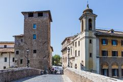 Old houses in Trastevere, Rome, Italy Stock Photos