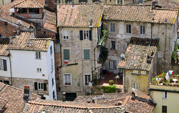 Old houses in tuscany Stock Images