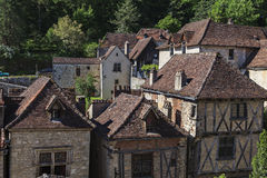Old houses of a typical village Stock Photo
