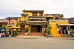 Old houses in UNESCO world heritage Hoi An ancient town Stock Photos