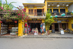 Old houses in UNESCO world heritage Hoi An ancient town Royalty Free Stock Photo