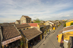 Old houses in UNESCO world heritage Hoi An ancient town Stock Photo