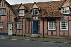 Lavenham UK.Old Houses Royalty Free Stock Photo
