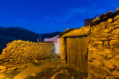 Old houses in Utrillas Royalty Free Stock Images