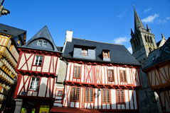 Old houses in Vannes Royalty Free Stock Image