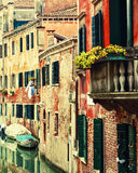 Old houses in Venice Royalty Free Stock Images