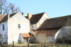 Old houses at village Royalty Free Stock Photo