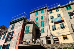 Old Houses in the Village of Riomaggiore Stock Image