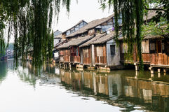 Old houses on water Stock Image