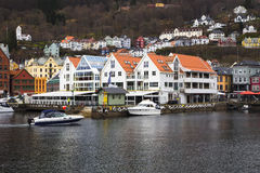 Old houses on the waterfront Royalty Free Stock Image