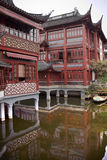 Old Houses in Yuyuan Garden Shanghai China Royalty Free Stock Image