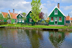 Old  houses of Zaanse Schans, Netherlands Royalty Free Stock Images