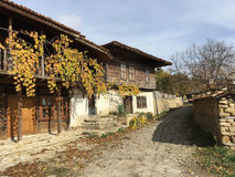 Old houses in Zheravna. Beautiful old houses in the village Zheravna of Bulgaria stock image