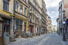 Old housing in downtown Bucharest Royalty Free Stock Photo