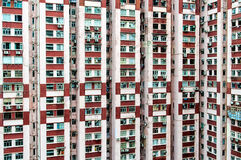 Old Housing in Hongkong Stock Photos