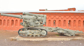 Old howitzer high power. Royalty Free Stock Images