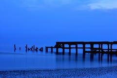 Old Hua Hin fishing pier Thailand Stock Photo