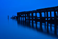 Old Hua Hin fishing pier Thailand Stock Photos
